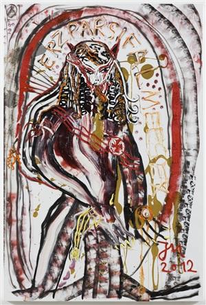 """""""kunst ist immer auf erzangriff auf jede ideologie gebürstet"""" by jonathan meese"""