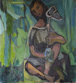 boy with butterfly net by kenneth lauder