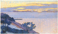 paysage au soleil couchant by henri edmond cross