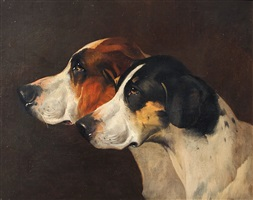 two hounds by john arnold alfred wheeler