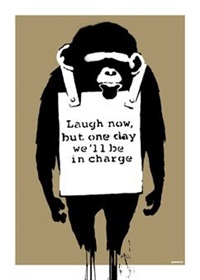 laugh now signed by banksy