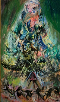 the christmas tree by hyman bloom