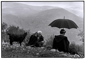 "greece. crete. 1964. shepherds with goat. ""a greek portfolio"" by constantine manos"
