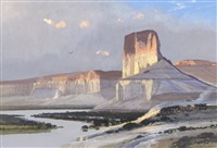 untitled - cliffs of the green river by michael coleman