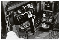 roselyne, chateau d'arcangues (salon) by helmut newton