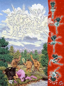 minotaure-on-high as witnessed by his antediluvian retainers by robert williams