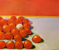 still life with the white orange by raimonds staprans