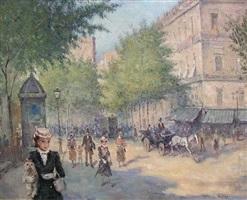 paris street scene by françois xavier dupre