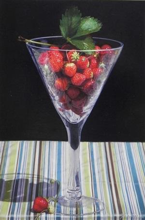 strawberry in glass by yingzhao liu