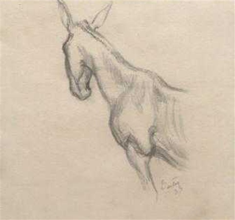 front half study of mule by thomas hart benton