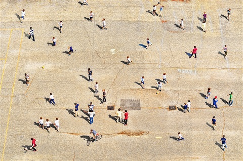 high above playground by mitchell funk