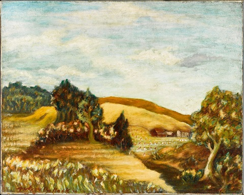 Untitled Landscape with Tree to Right by Jackson Pollock on artnet