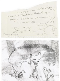 untitled 1 and 2 by tracey emin