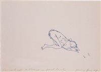 curled up asleep can't think by tracey emin