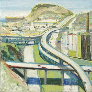 study for freeway by wayne thiebaud