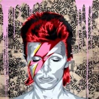 davd bowie by mr. brainwash
