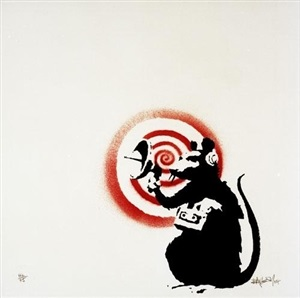 sonic (radar) rat by banksy