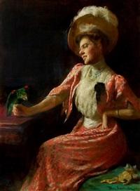 the parrot: portrait of rebecca whelan by thomas anshutz