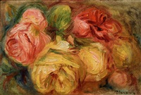 still-life of roses by pierre-auguste renoir