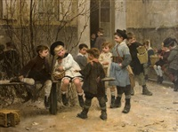lunchtime by henry jules jean geoffroy