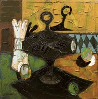 still-life with compote dish by claude venard