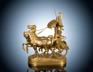 chariot of minerva (athena) by emmanuel frémiet