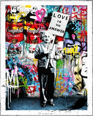 love is the answer by mr brainwash