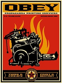 print & destroy by shepard fairey