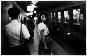 girl in the underground, tokyo by ed van der elsken