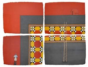 chettinad tile iii (4-parts) by desmond lazaro