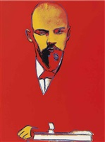 red lenin (f&s ii.403) by andy warhol