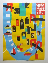 nyc map (yellow) by tom slaughter