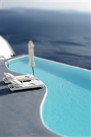 santorini pool, greece by aleš bravnicar