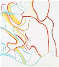 untitled #4, from quatre lithographs by willem de kooning