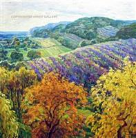rolling fields of fall by malva