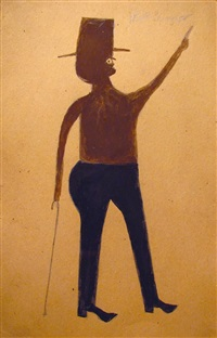 untitled (man pointing) by bill traylor