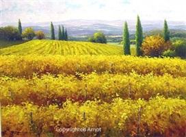vineyards in gold by gerhard nesvadba