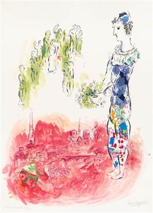 le magicien de paris ii (the magician of paris ii) by marc chagall