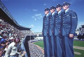 4 sailors at yankee stadium by robert funk