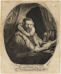 jan uytenboagert, preacher of the remonstrants by rembrandt van rijn