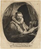 jan uytenboagert, preacher of the remonstrants by rembrandt van rijn