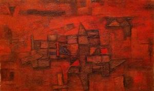 untitled (benares series) by ram kumar