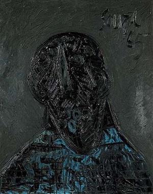 untitled (head) by francis newton souza