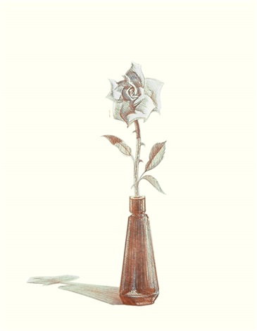 rose, from recent etchings ii by wayne thiebaud
