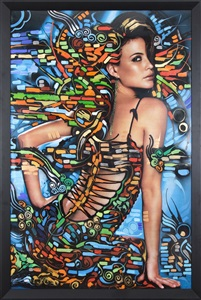 inspired the female figure in art by retna