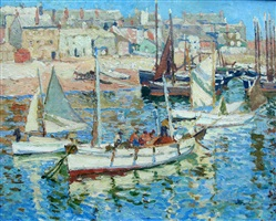 summer, st. ives harbour by john anthony park