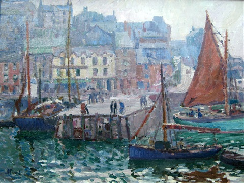 brixham harbour by john anthony park