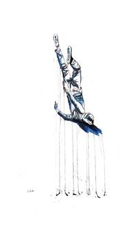 self-portrait (falling dogman) by jason wee