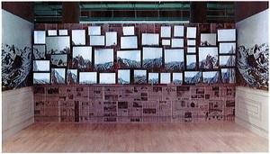 the room of sublime wallpaper by ellen harvey