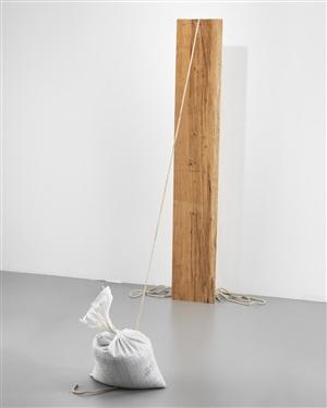 untitled (sandbag) by virginia overton